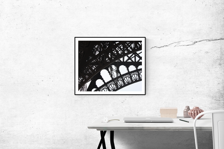 Black and White Eiffel Tower - Every Day Paris