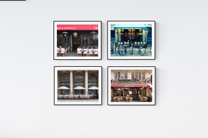 Paris Café Print Set of Four
