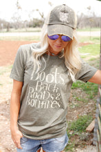 Load image into Gallery viewer, Boots, Back Roads,  & Bonfires Tee