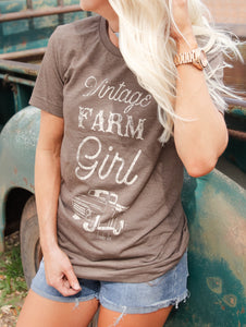 Brown Vintage Farm Girl
