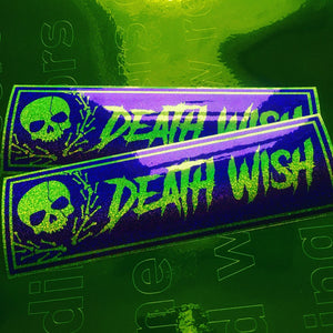 Death Wish Skull Sparkle Slap Sticker