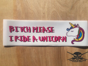 Bitch Please Unicorn Slap Sticker - ToxicVinyls