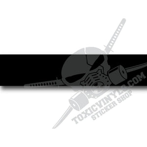 Black sun-stripe windscreen banner