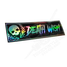 death wish skull slap sticker