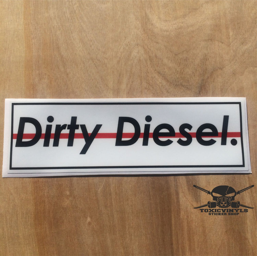 Dirty Diesel Slap Sticker