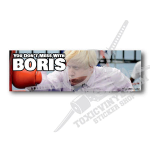 Boris Johnson Brexit Uk Slap sticker toxicvinyls