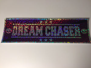 Dream Chaser Purple on Sparkle Slap Sticker - ToxicVinyls