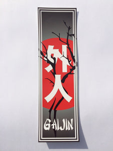 Gaijin Black Slap Sticker
