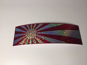 JDM Sunrise  Layered Slap Sticker Sparkle