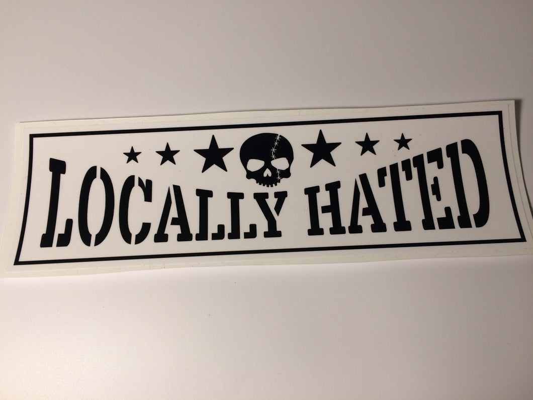 Locally Hated Slap Sticker