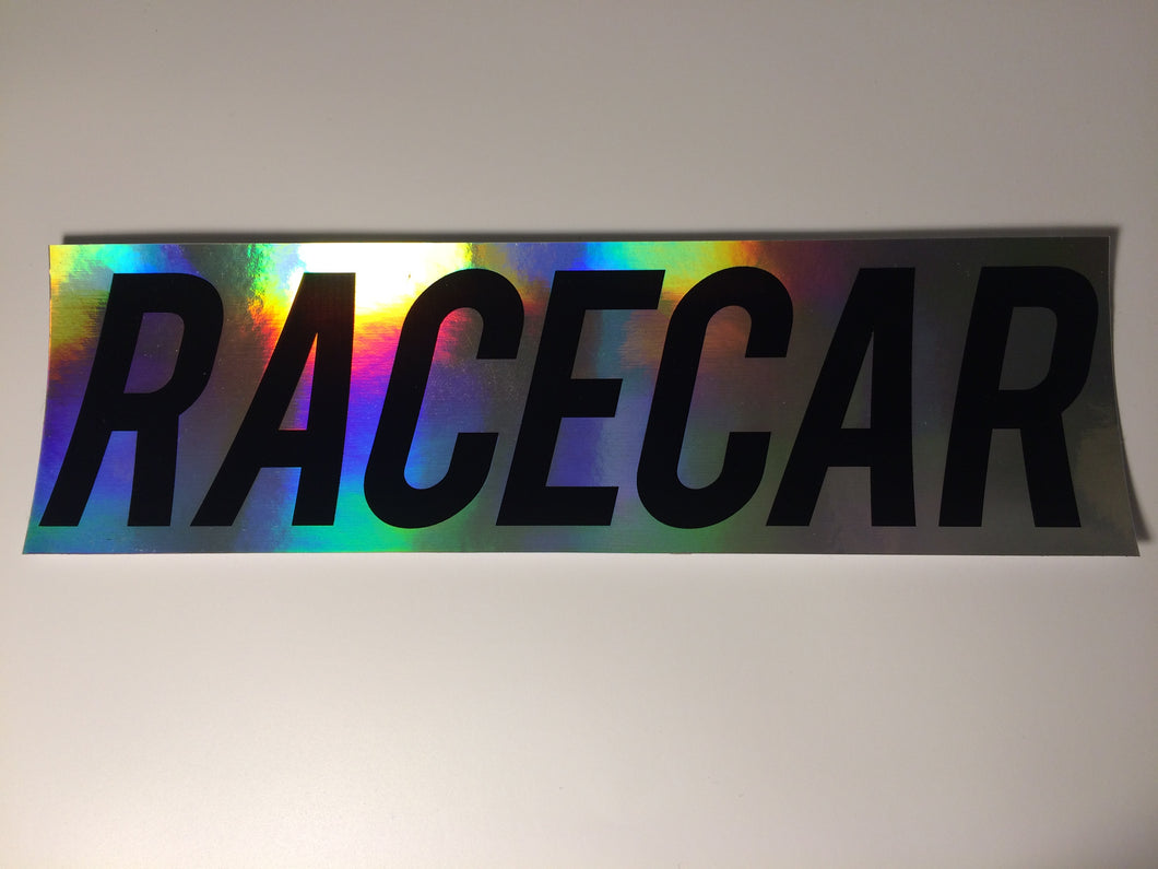 Race Car Oil Slick Slap Sticker