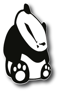 Sitting panda Peeker Sticker
