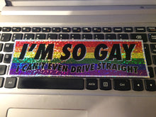 I'm so GAY Sparkle Slap Sticker