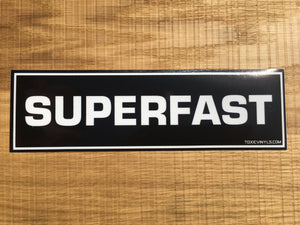 SUPERFAST Drift Slap Sticker