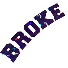 BROKE arch large windscreen sparkle vinyl sticker