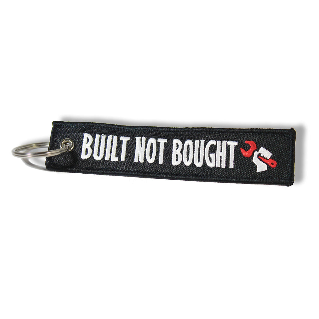 Built not bought key ring keychain