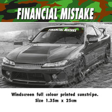 Financial Mistake Sun stripe