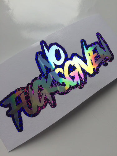 No Fucks Given Vinyl Sticker - ToxicVinyls