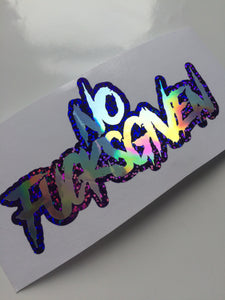 No Fucks Given NoFucksGiven Vinyl Sticker - ToxicVinyls
