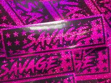 SAVAGE Pink Sparkle Slap Sticker