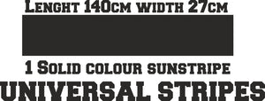 Solid colour car window sunstripe - ToxicVinyls