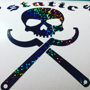 static Sparkle Skull Vinyl Sticker