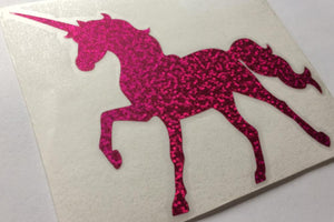 UNICORN sparkle die cut vinyl sticker - ToxicVinyls