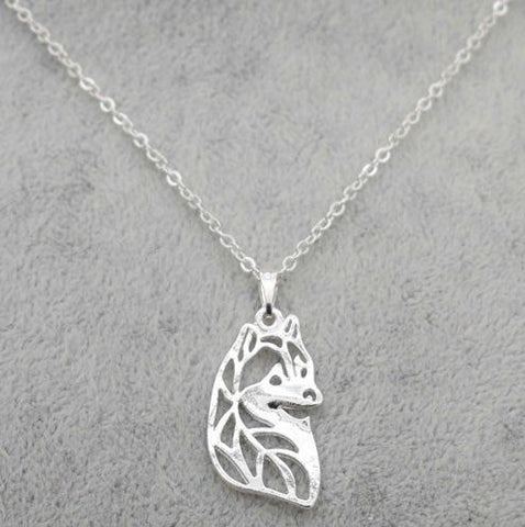 Siberian Husky in Silver Tone (Full Set of 4 necklaces)