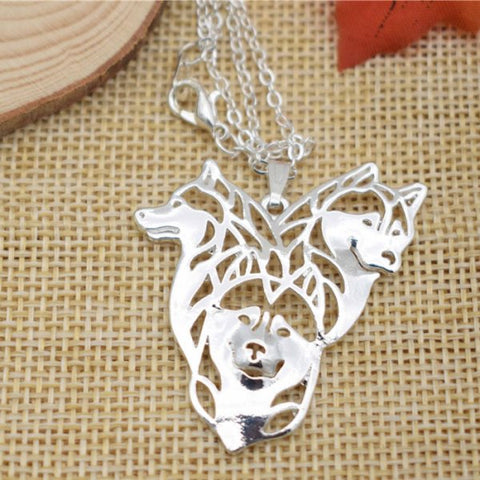 Siberian Husky  Trio Necklace