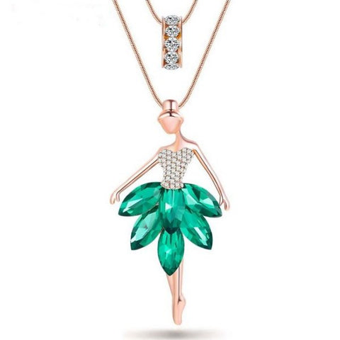 You can't go wrong with this Ballerina Bejeweled Necklace