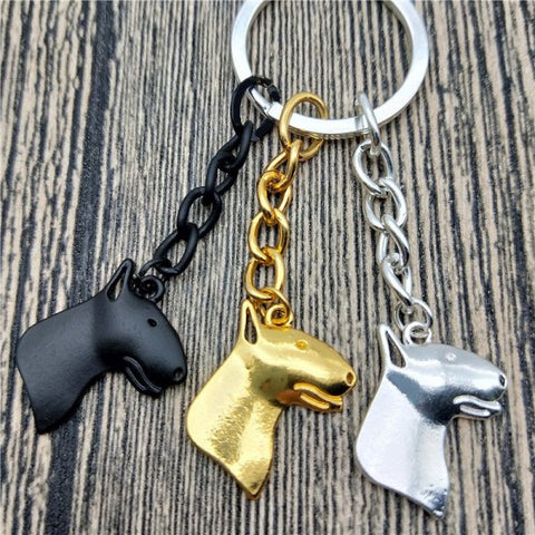 Bull Terrier Key Chain and Necklace