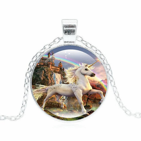 Various Unicorn Necklaces -- Cabochon