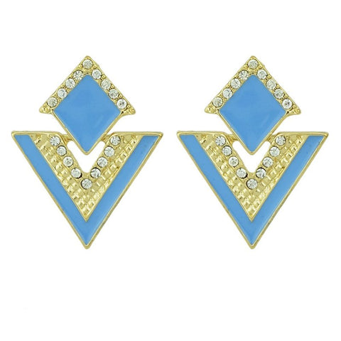 Blue earrings (set of 5)