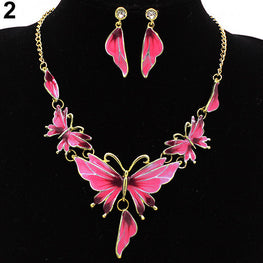 Butterfly Necklace and Earrings