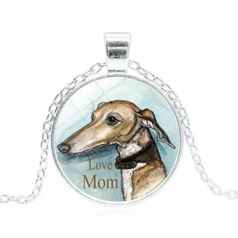 Greyhound Glass Cobochon Necklace