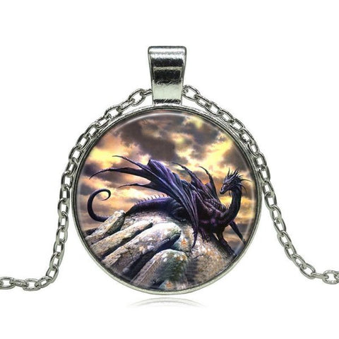 Black Dragon Necklace -- Cabochon