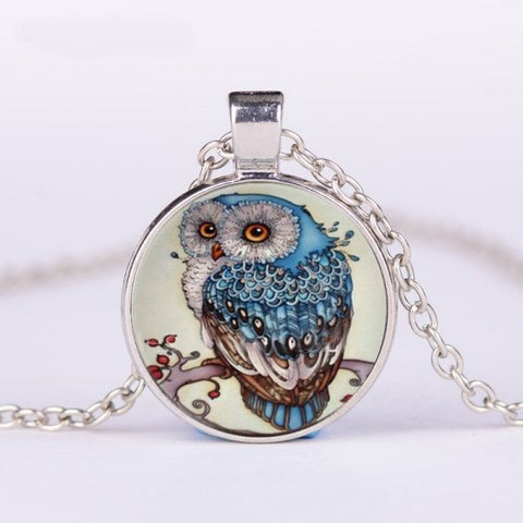 Owl Necklace -- Cabochon