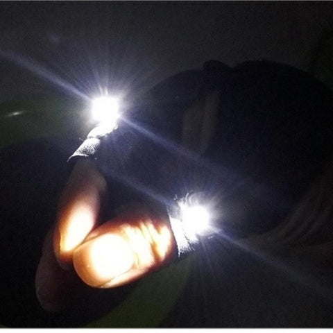 LED fingerless gloves solve the problem of dark working spaces!