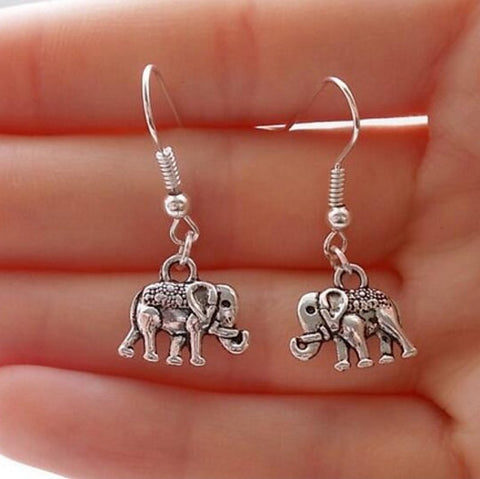Elephant Set (4 earrings and necklace)
