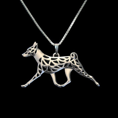 Basenji Necklace Moving
