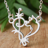Siberian Husky Heart Necklace