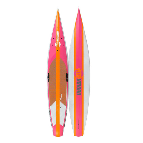 "KM Hawaii Compressor HP - Pink-Orange - 12'6"" x 22""  Carbon Fiber Performance Standup Paddle Board Paddle Boards 4theoutdoors America US USA SUP outdoors"