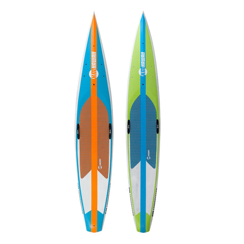 "KM Hawaii Compressor HP - Green-Blue - 14'0"" x 24"" Carbon Fiber Performance Standup Paddle Board"