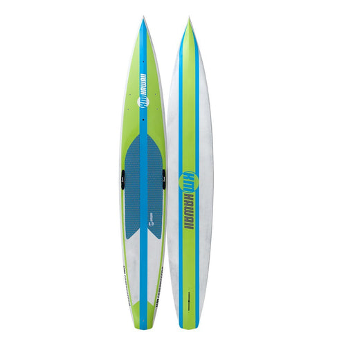 "KM Hawaii Compressor HP - Green-Blue - 14'0"" x 24"" Carbon Fiber Performance Standup Paddle Board Paddle Boards 4theoutdoors America US USA SUP outdoors"