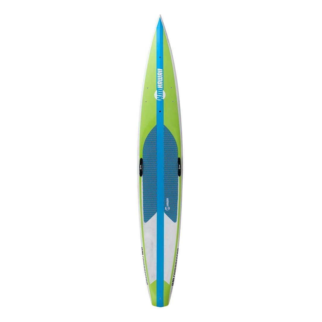 "KM Hawaii Compressor HP - Green-Blue - 12'6"" x 26"" Carbon Fiber Performance Standup Paddle Board Paddle Boards 4theoutdoors America US USA SUP outdoors"