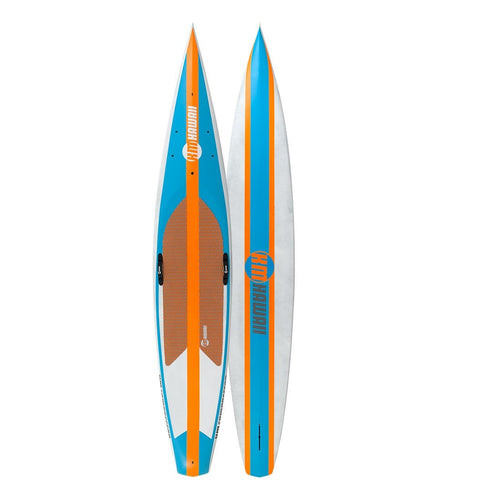 AUBURN RENTAL: KM Hawaii CompressorHP - Blue-Orange + Paddle + Leash - Race Paddle Board Rental 4theoutdoors America US USA SUP outdoors