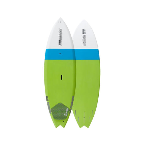 "KM Hawaii X Board - Green-Blue - 6'8"" x 24"" Performance Surf Standup Paddle Board Paddle Boards 4theoutdoors America US USA SUP outdoors"