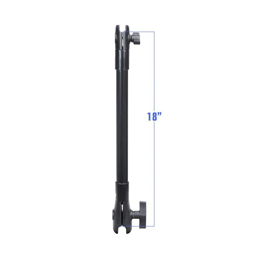 "RAM Socket Arm with 1.5"" and 1"" Sockets  - 18"" Assembly Mounts 4theoutdoors America US USA SUP outdoors"