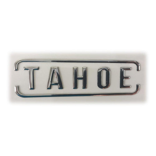 Tahoe SUP Text Decal - 3D Chrome SUP Parts 4theoutdoors America US USA SUP outdoors