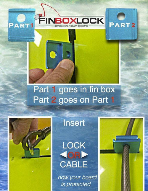 Fin Box Lock Mounts 4theoutdoors America US USA SUP outdoors